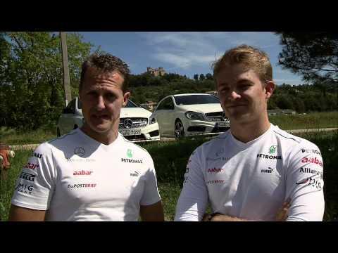 Nico Rosberg: Trailer Hockenheim GP mit Michael Schumacher