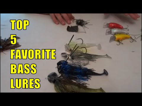 Watch top 5 bass lures best fishing lures for Best bass fishing times