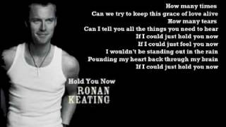 Watch Ronan Keating Hold You Now video