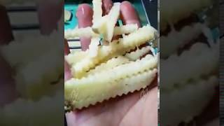 crinkle french cut machine|crinkle  shape french fries cutting machine how to use a crinkle cutter