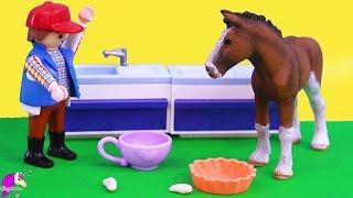 Poison ? Schleich Horses Draft Horse Family Honey Hearts Video
