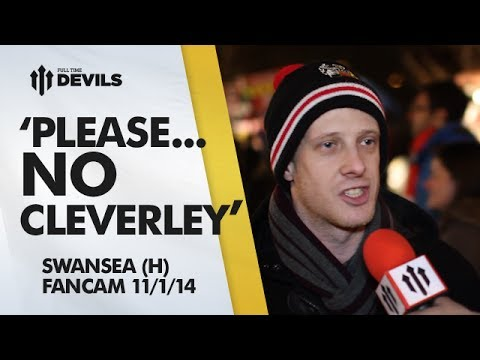 Cleverley: 'Please, NO!!' | Manchester United 2-0 Swansea City | FANCAM