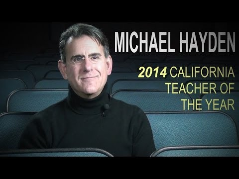 MICHAEL HAYDEN - 2014 California Teacher Of The Year