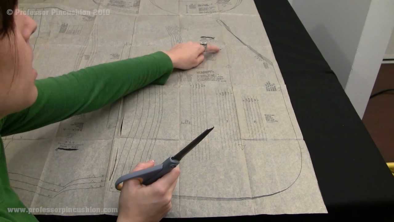 How To Cut Out Sewing Pattern Pieces Youtube
