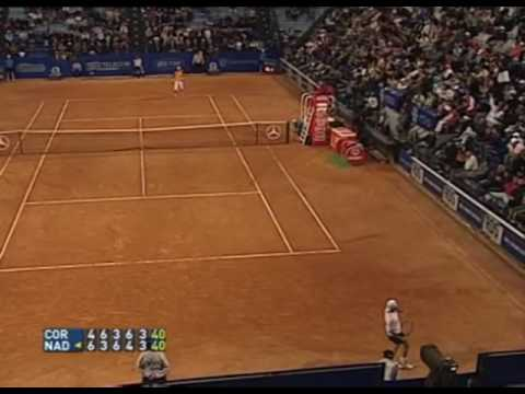 Guillermo Coria v Rafael Nadal Rome 2005 Final 5th set highlights