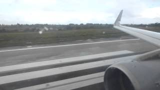 LH1277 Bad weather departure from Malta with brandnew A320 with sharklets - Takeoff from Luqa RWY31