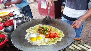 3 idiot Omelette Recipe - 3 layers of the Stuffs with Cheese & Cream ! Indian Street Food