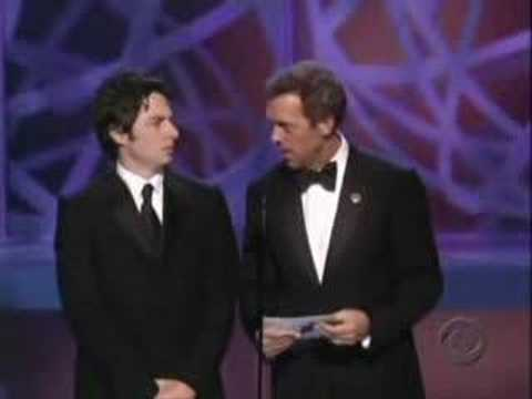 Emmys Hugh Laurie Zach Braff Video