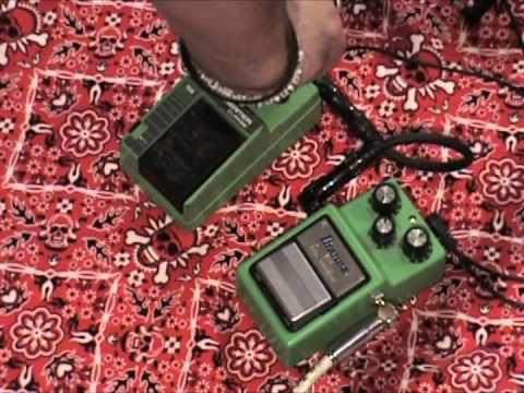 Ibanez TS9 vs TS10 tubescreamer overdrive comparison guitar effect pedal demo