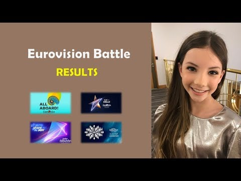 EUROVISION BATTLE | ESC 2018 VS JESC 2018 VS ESC 2019 VS JESC 2019 | YOUR RESULTS