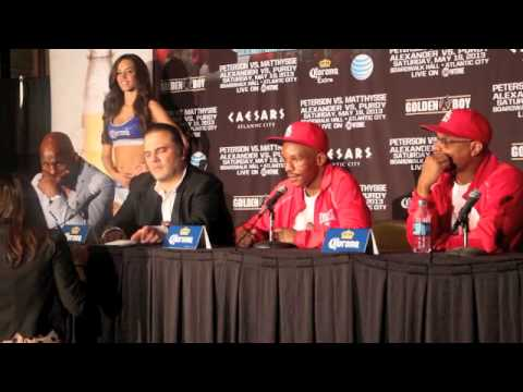 DEVON ALEXANDER v LEE PURDY POST-FIGHT PRESS CONFERENCE / BROADWALK HALL (ATLANTIC CITY)