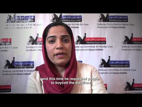 Malalai Joya's stand on Afghan election 2014