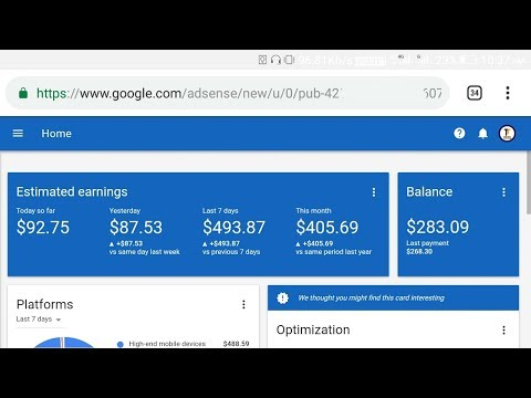 How To Earn Money Par Day 1,00$ Google Adsense For Content With Live Proof