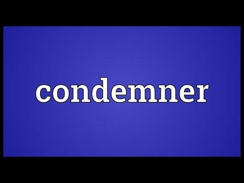 Header of condemner