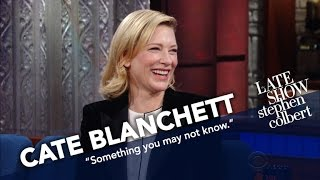 Cate Blanchett Explains Where Her Moral Compass Lies. Anatomically.