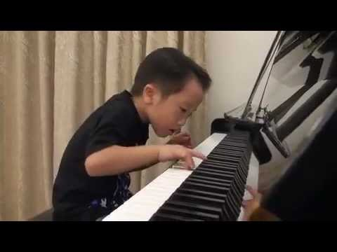 Tsung Tsung Amazing Piano Prodigy Grade5 Piano (5Age) Flood Time Air 師承邱世傑