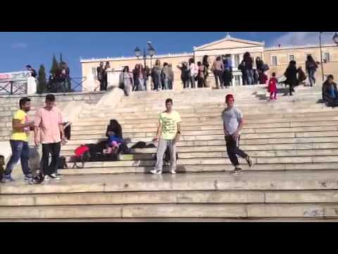 Breakdancing in Syntagma Square