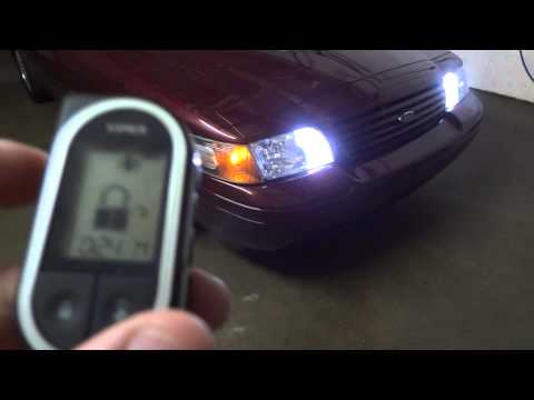 Viper 5704V  2-Way Alarm/Remote Start on Crown Victoria