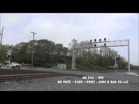 NS Harrisburg Line Action - NS 21M, 34A & 290