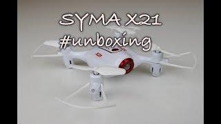 Syma X21- Představení a unboxing dronu Syma X21