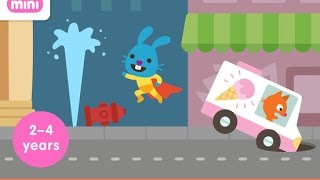 Sago Mini Superhero Part 2 - iPad app demo for kids - Ellie
