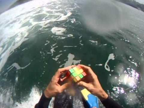 Watch Surfer in body solved cube