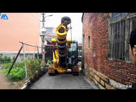 TYSIM KR40 Small Rotary Drilling Rig with Used Excavator(1)