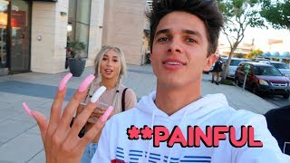 WEARING LONG ACRYLIC NAILS FOR 24 HOURS!! (W/ MyLifeAsEva)   Brent Rivera