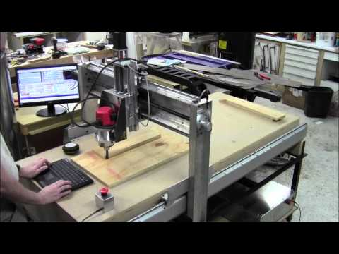 DIY CNC Router Build Day 41 - First Cut