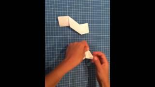 How to make an easy origami ninja star.