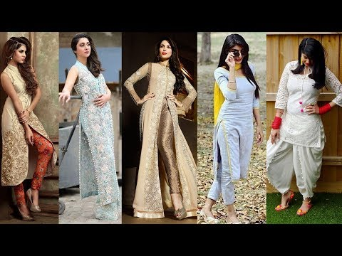 Latest Designer Slit Kurti with Pants Designs 2018 - 2019 || Party Wear and Daily Wear Dresses