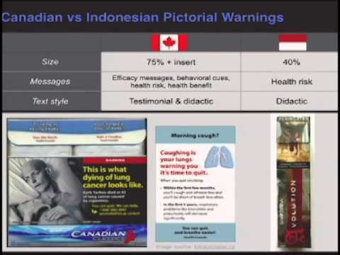 Effect of health warning labels with testimonials
