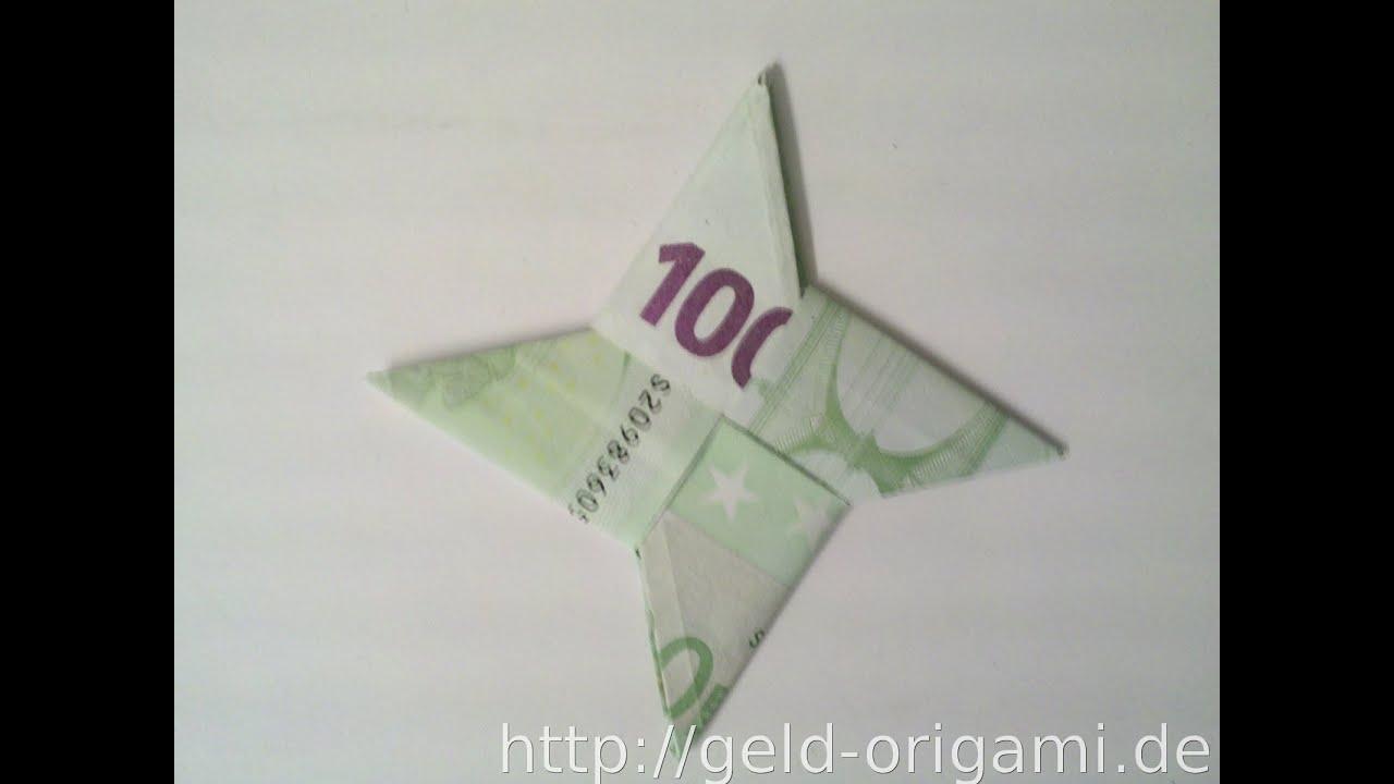 Stern aus zwei Geldscheinen falten - Stern mit Origami - Geldgeschenk ...