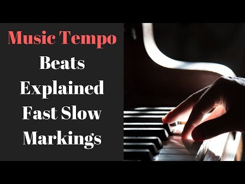 Musical Terms Tempo i Music Tempo on Piano