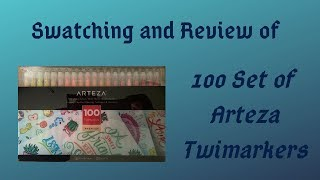 Swatching and Review of 100 Set of Arteza Twimarkers