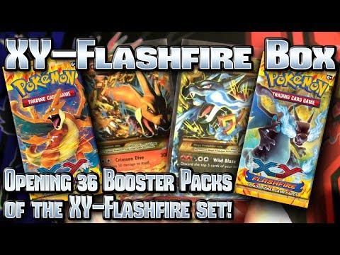 Pokémon Xy: Flashfire Tcg Booster Box Opening! video