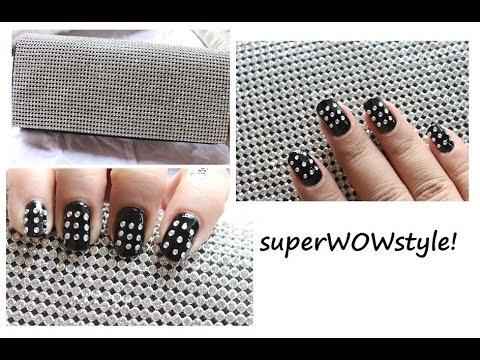 Clutch Purse + Matching NOTD ❤ Cute Nail Designs ❤ Studs Nail Designs