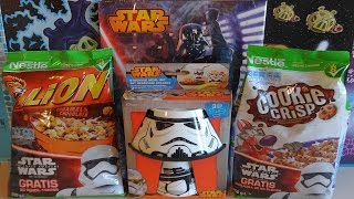2015 Star Wars Movie Nestle Cereal Surprise Pack + Stormtrooper Mealtime Set