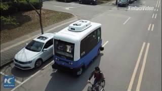 Driverless mini-bus put to trial run in Nanjing, China