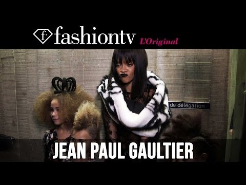 Rihanna & Beth Ditto after Jean Paul Gaultier Fall/Winter 2014-15 | Paris Fashion Week | FashionTV