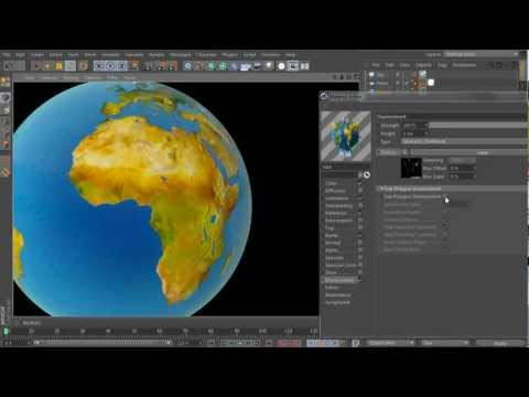 Tutorial - Create a Stylish Earth Cross-Section Animation with Cinema 4D - Part 1