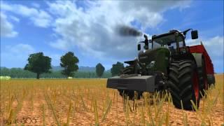 Landwirtschafts, Simulator, 2011-, Sonnenblumen, Dreschen, im, Bassumer, Land, Fendt, Vario, 828, Brimont, Mulden, Kipper, Claas, Lexion, 750, Sonnenblumenkerne