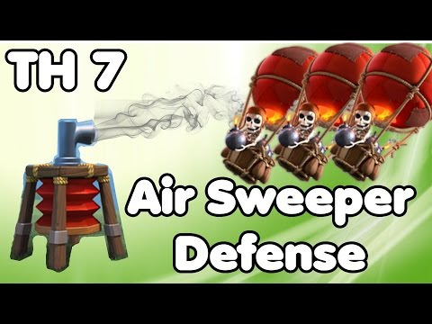 Clash of Clans Town Hall 7 Defense With Air Sweeper (CoC TH7) Hybrid Base Defense Strategy