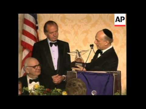 USA: KING OF SPAIN JUAN CARLOS I IS GUEST OF HONOUR AT GALA DINNER