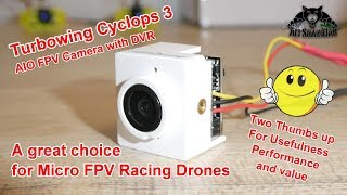 Tiny AIO FPV Camera with 720P DVR TurboWing Cyclops 3