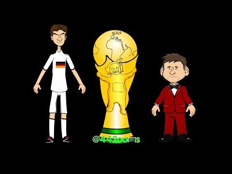 🇧🇷WORLD CUP FINAL HIGHLIGHTS 2014🇧🇷🇩🇪Germany v Argentina🇦🇷 Mario Gotze Goal (Cartoon)