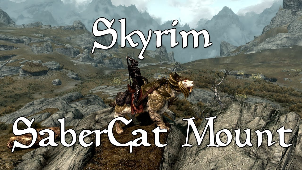 Skyrim Mammoth Armor Skyrim Armored Sabre Cat Mount