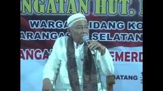 Ceramah KH. Su'udi dari Pekalongan 2015 Full Ngakak abiss..