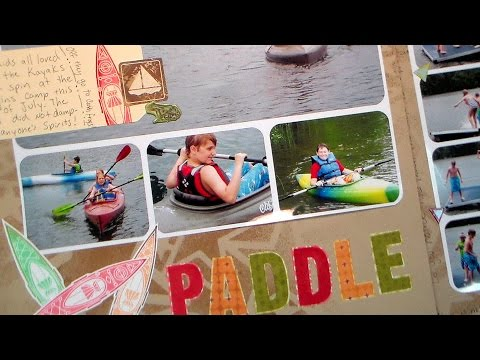 Paddle & Swim Scrapbook Page Tutorial