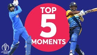 Rahul? Mathews? | Sri Lanka v India - Top 5 Moments | ICC Cricket World Cup 2019